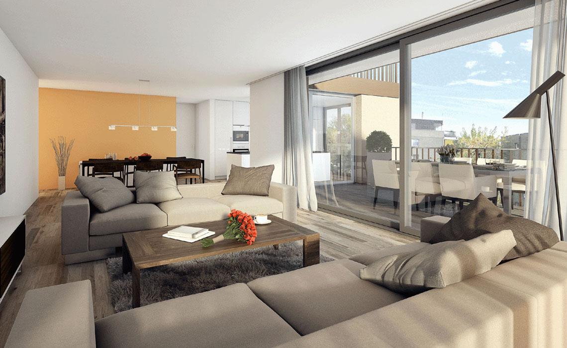 Visualisierungen Architektur Wohnzimmer Stomeo Zurich