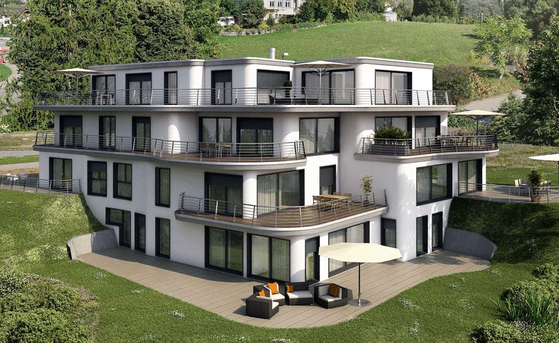 VISUALISIERUNGEN Mehrfamilienhaus MFH | Mehrfamilienhäuser
